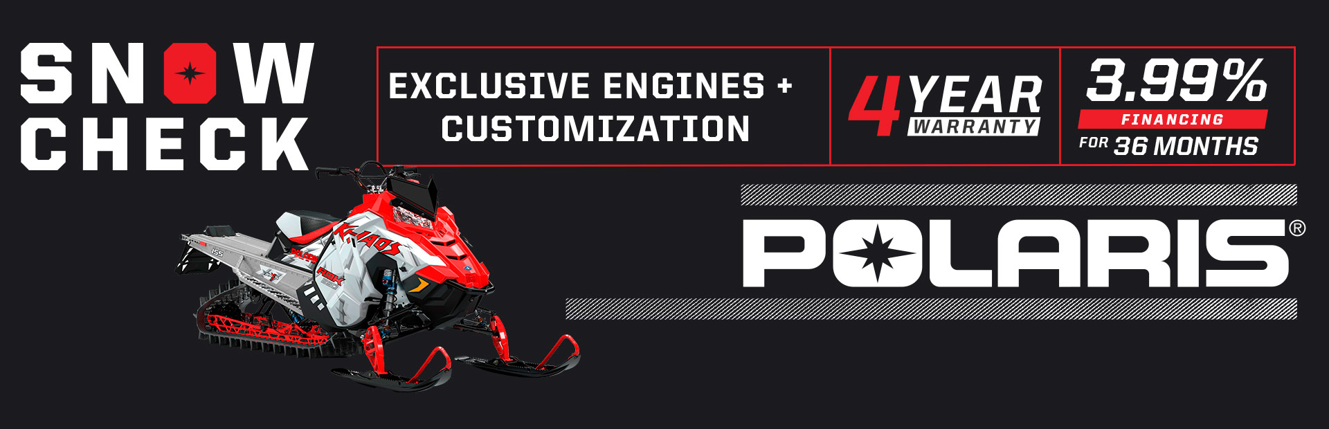 Snowcheck Exclusive Engines & Customization